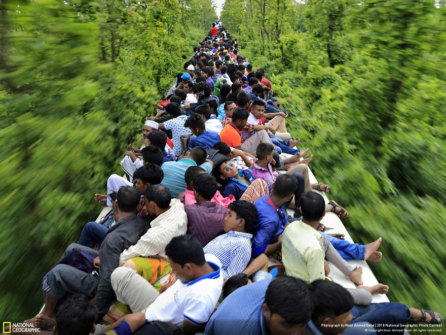 An Overcrowded Train Journey, Noor Ahmed Gelal