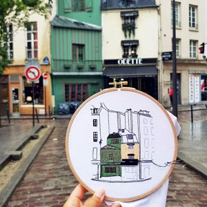 Creative Couple Recreate Architecture Of European Cities Through Charming Embroidery