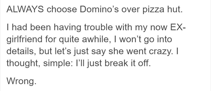 Guy Shares The Story Of How Domino's Pizza Tracker Saved Him From
