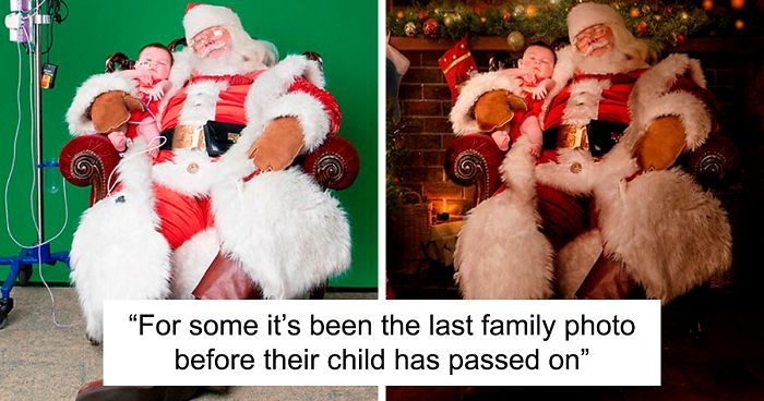 These Photographers Organize Magical Christmas Photoshoots For Children In Hospitals As For Some It Might Be Their Last Bored Panda