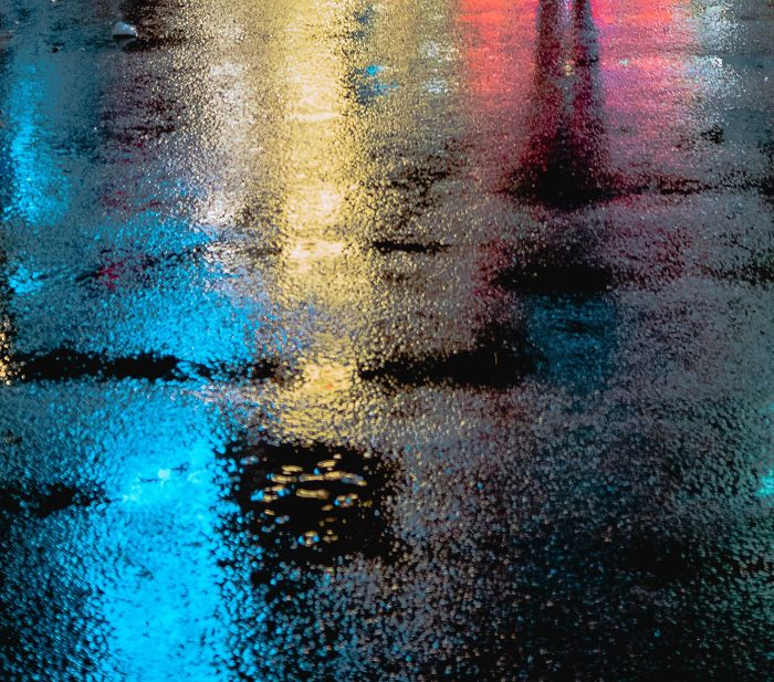 Rainy Roads (Neon Light Reflections)