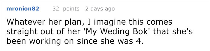 Bride Asks Guests To Dress Based On Their Weight, Completely Loses It When Someone Shames Her On Reddit