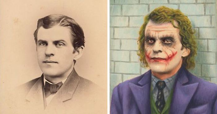 Artist Turns Vintage Portraits Into Heroes Of Pop Culture