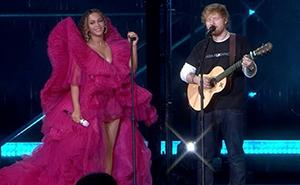Una mujer se quejó del modo de vestir de Ed Sheeran junto a Beyoncé, pero fue destrozada en Twitter