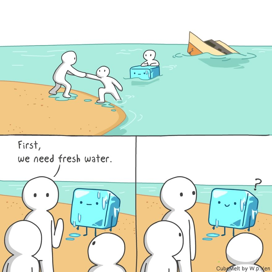 My 36 Comics About An Ice Cube Which I Created At The ...