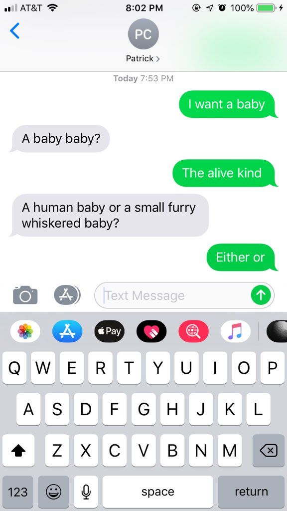 "50 Of The Best Responses To The ""Text Your Boyfriend 'I Want A Baby"