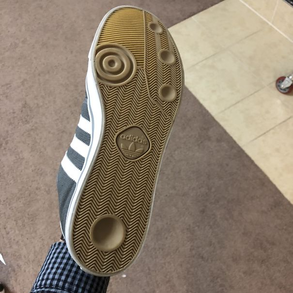 These Shoes With Suction Cups On The Bottom That Pop When I Walk On Smooth Surfaces