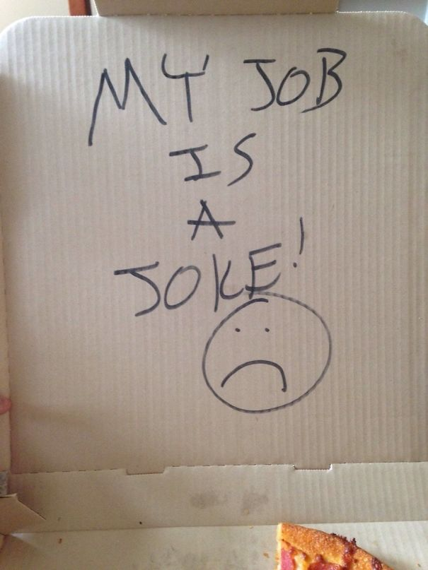 We Asked The Pizza Guy To Put A Joke In The Box