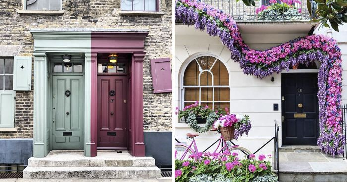 Woman Captures London S Most Beautiful Front Doors And They Look Straight Out Of A Wes Anderson Movie