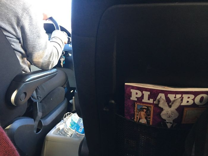 My Lyft Driver Offering Some In Flight Entertainment