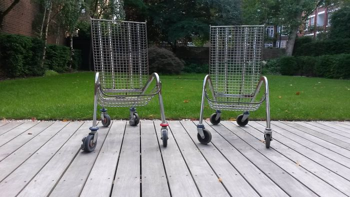 The Chairs In My Garden Are Made Out Of Shopping Trolleys