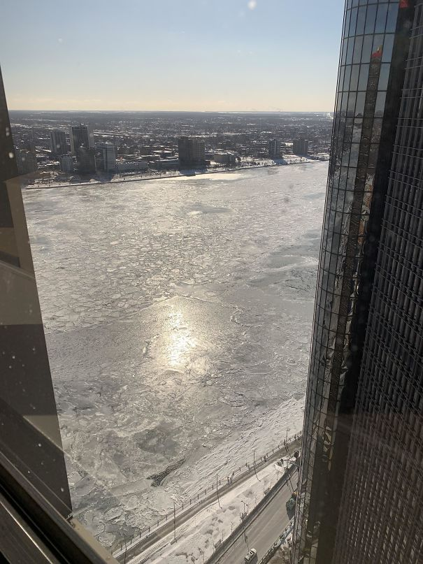 The Detroit River, Frozen All The Way To Canada