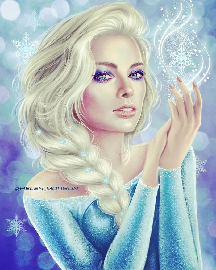 Margot Robbie como Elsa