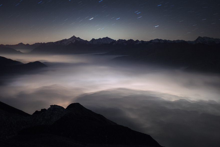 Aosta Valley Beneath The Clouds