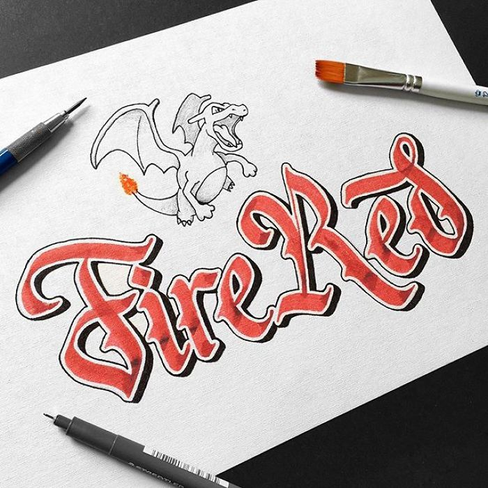 Artist Perfectly Reproduces Freehand Logos