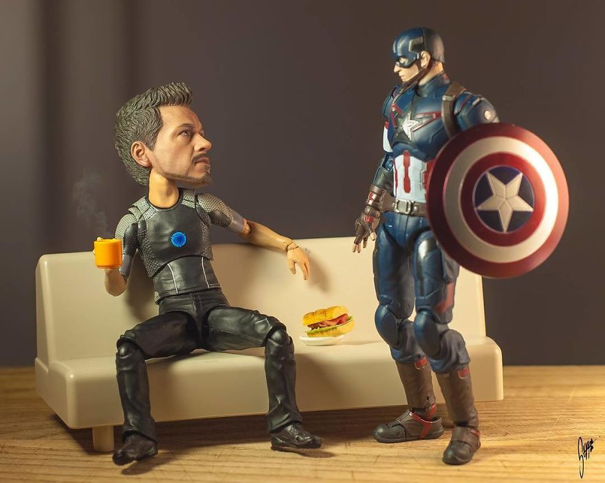 Hangover? Me? Why Do You Say That, Cap?