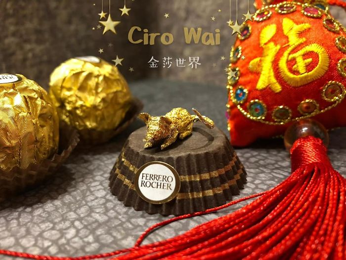 Chinese Makes Incredible Sculptures With Ferrero Rocher's Packaging