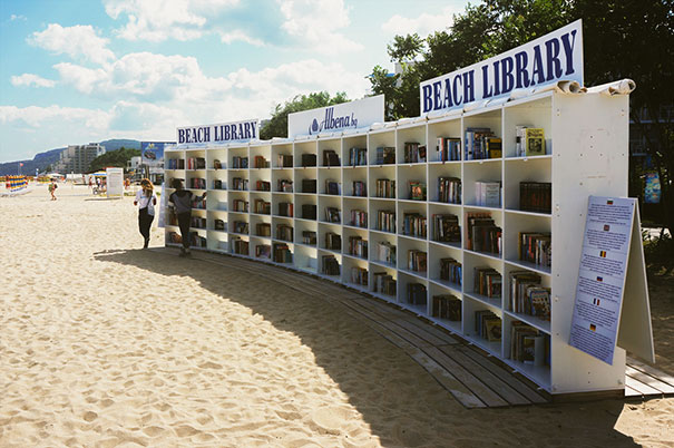 Albena, Bulgaria Beach Library