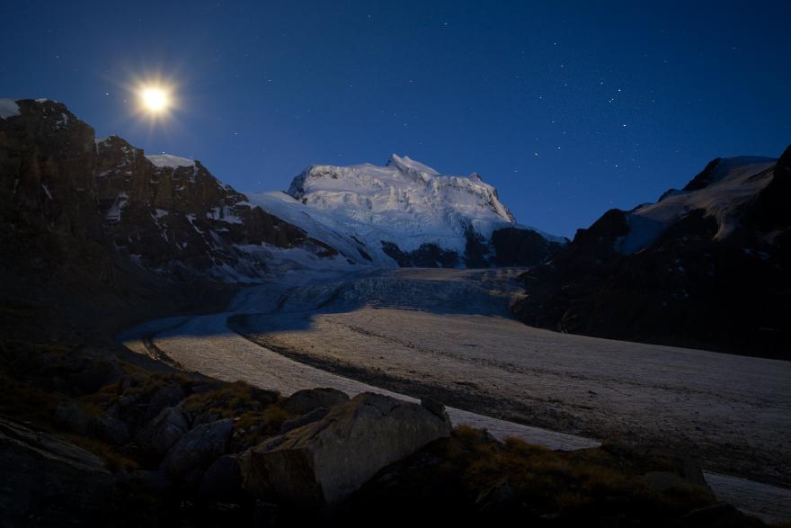 Grand Combin In The Moonlight