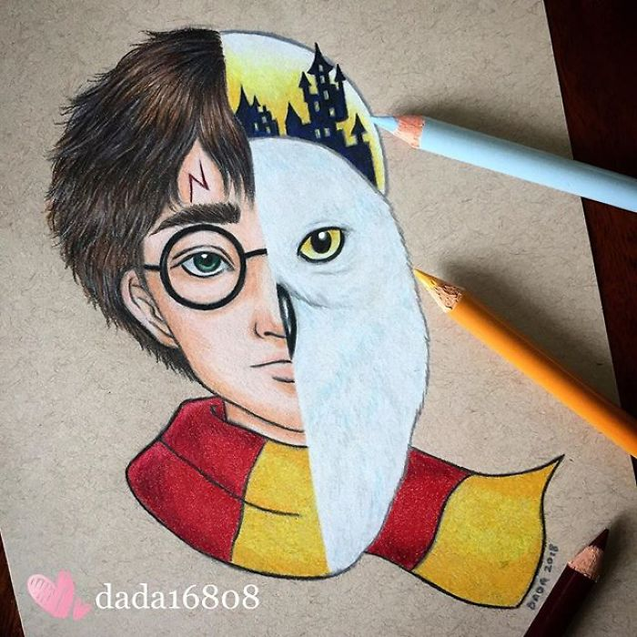 Harry Potter & Hedwig