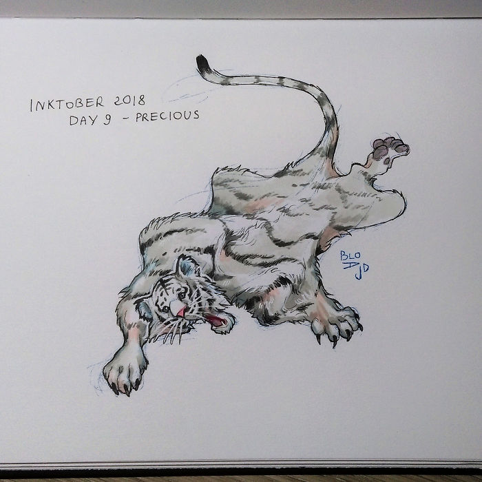 I Dedicated The Whole Inktober To Animal Suffering