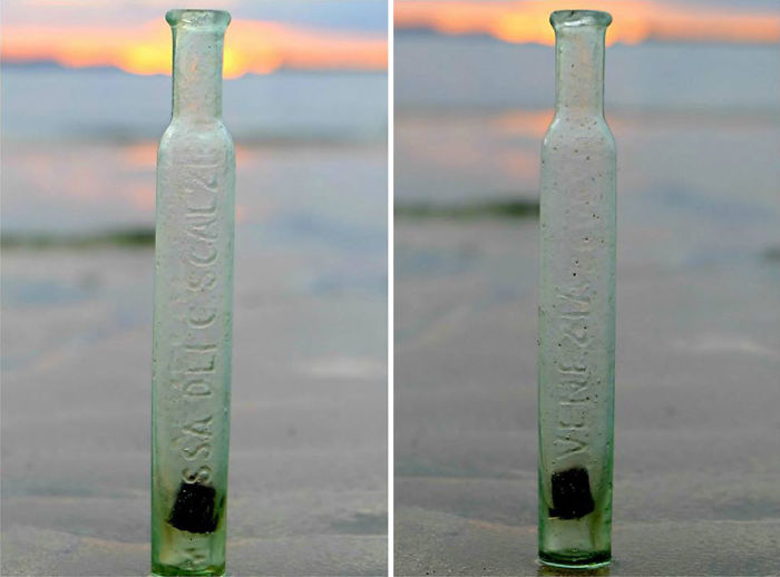 The Bottle With Healing Water Made From The Melissa Herb