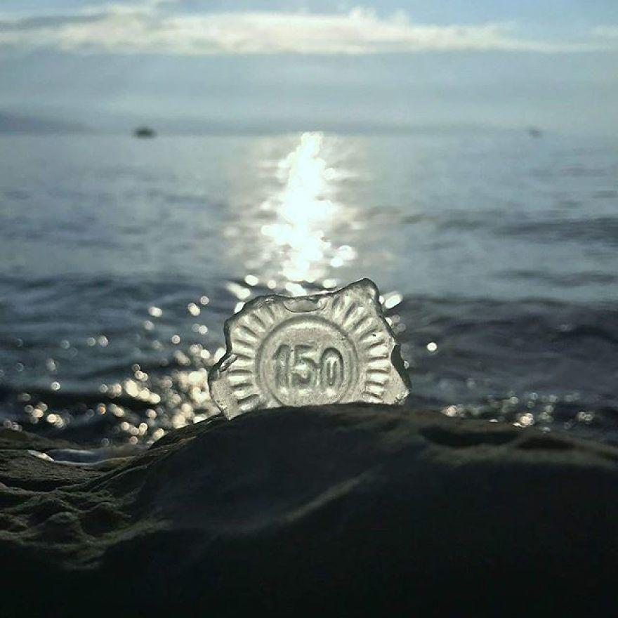 BEACH SEA GLASS SURF TUMBLED SEAFOAM LOT OVER 200 PIECES