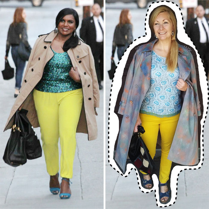 Mindy Kaling. Total Outfit Cost: $0
