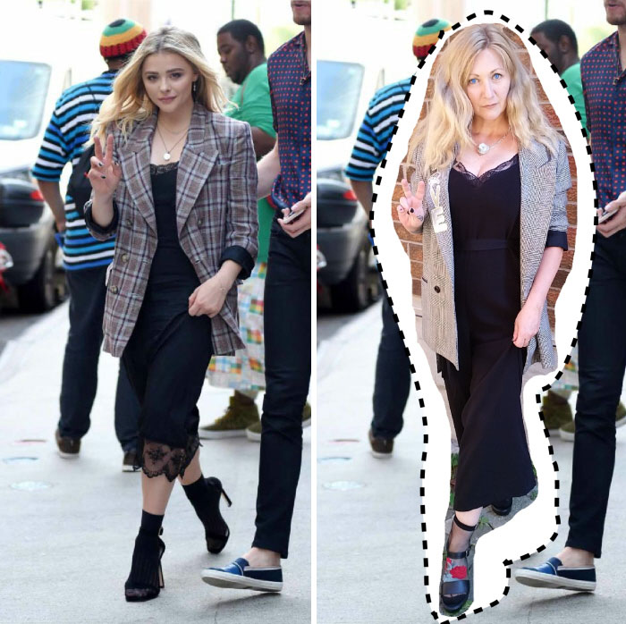 Chloe Moretz. Total Outfit Cost: $3