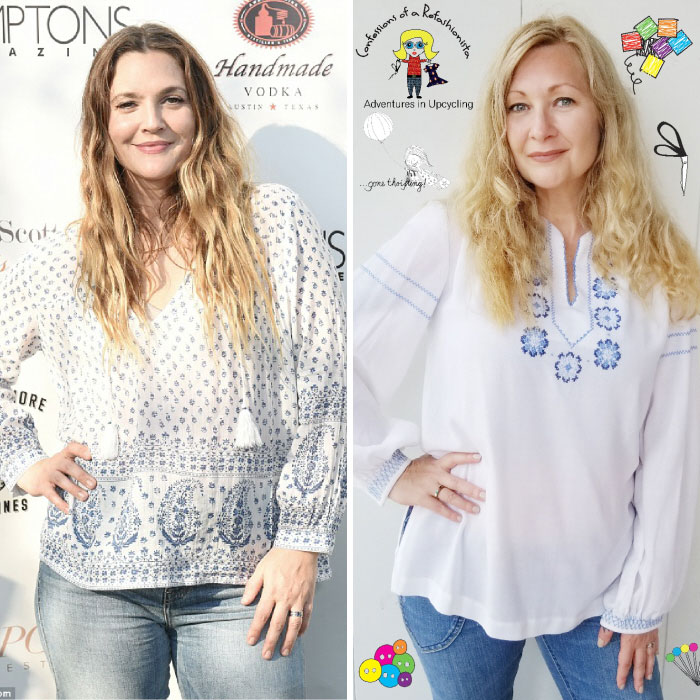 Drew Barrymore. Total Outfit Cost: $0
