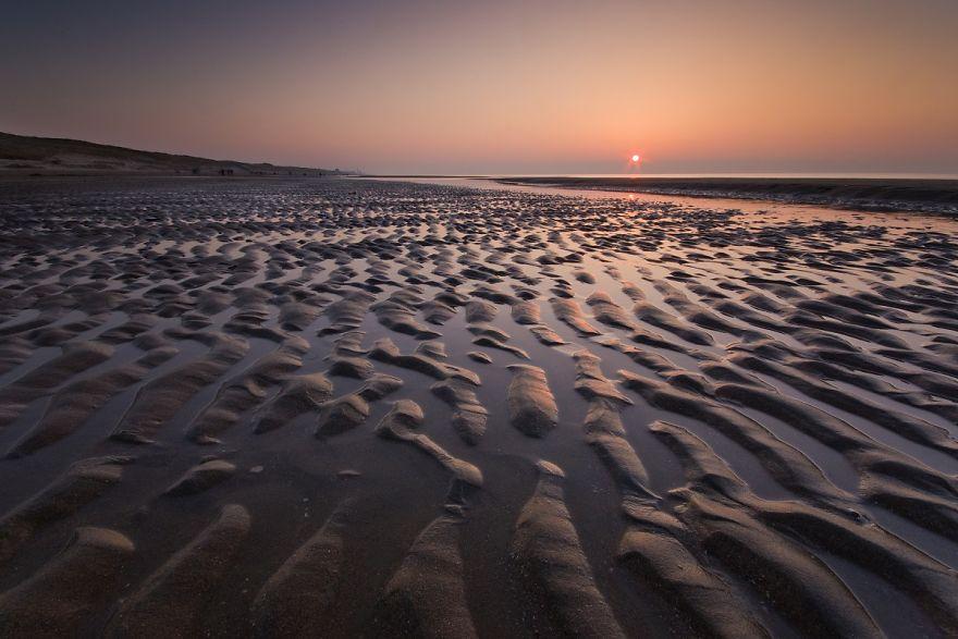 The Beach At Bloemendaal Aan Zee At Low Tide