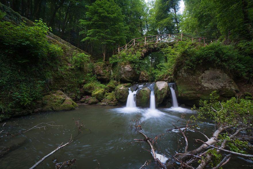 Schiessentümpel Waterfall In Luxembourg