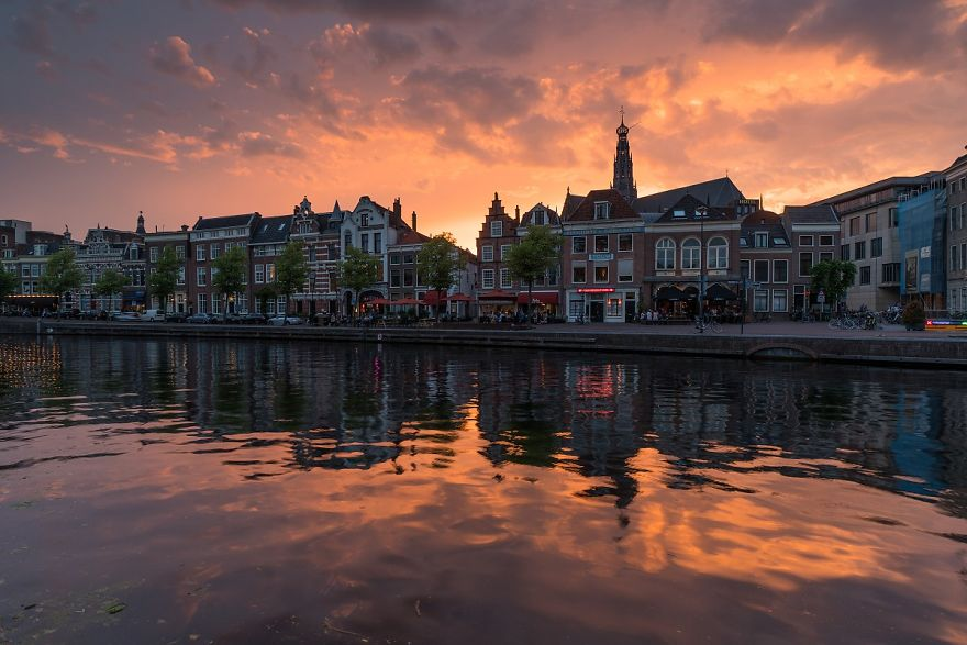 The Sunset In Haarlem