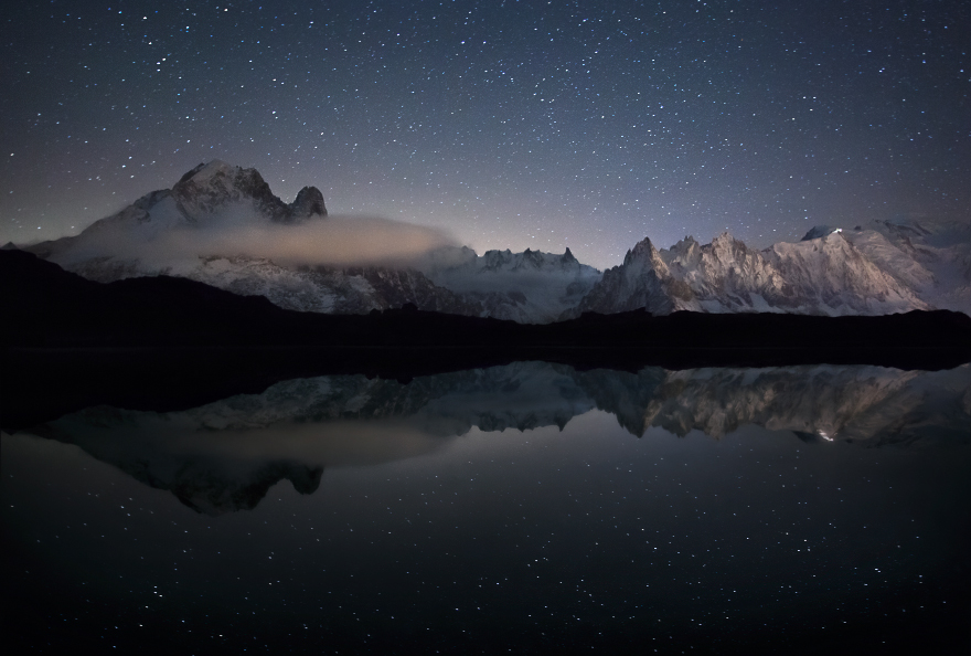 Mont Blanc In The Mirror