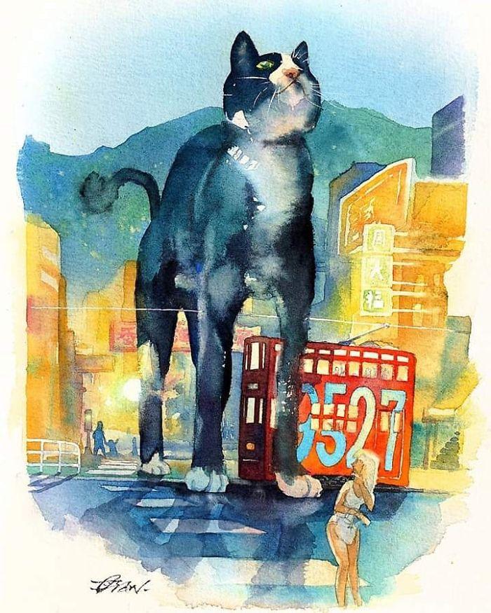 Big Cat In Hong Kong