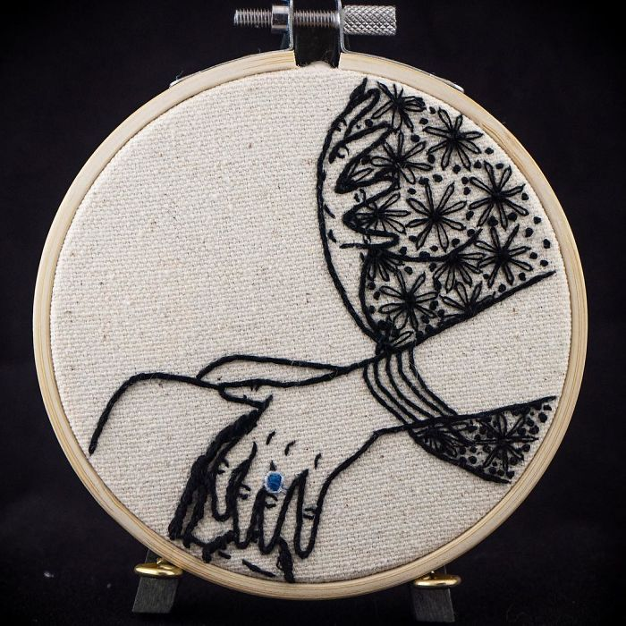 My Sister Spreads Body Positivity By Embroidering Nude Photos