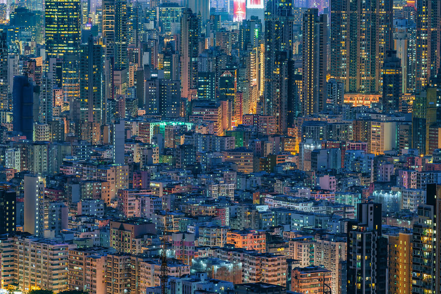 "Photography Series ""Urban Density"" Shows The Density Of Hong Kong From A Different Angle."