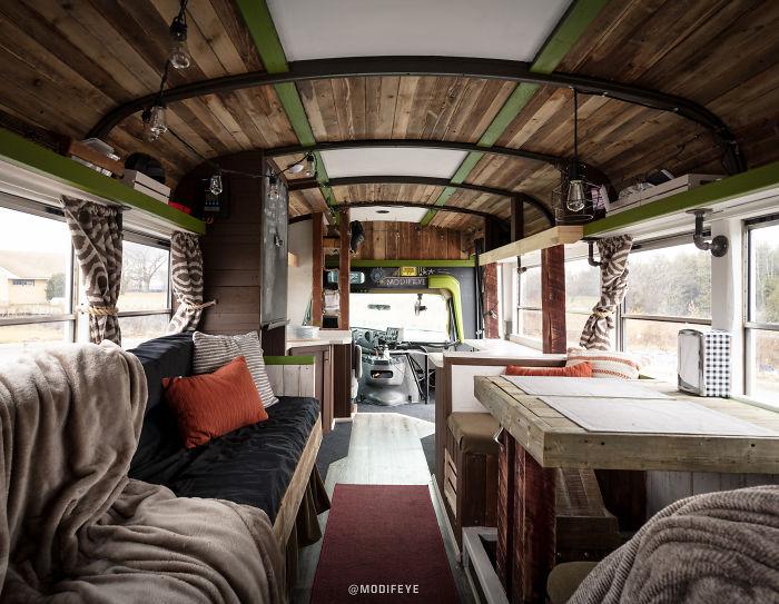 I Converted A Short Bus Into A Cozy Adventure Wagon