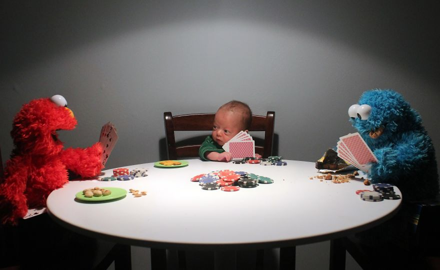 baby, This dad photoshops his premature baby into doing everyday adult things