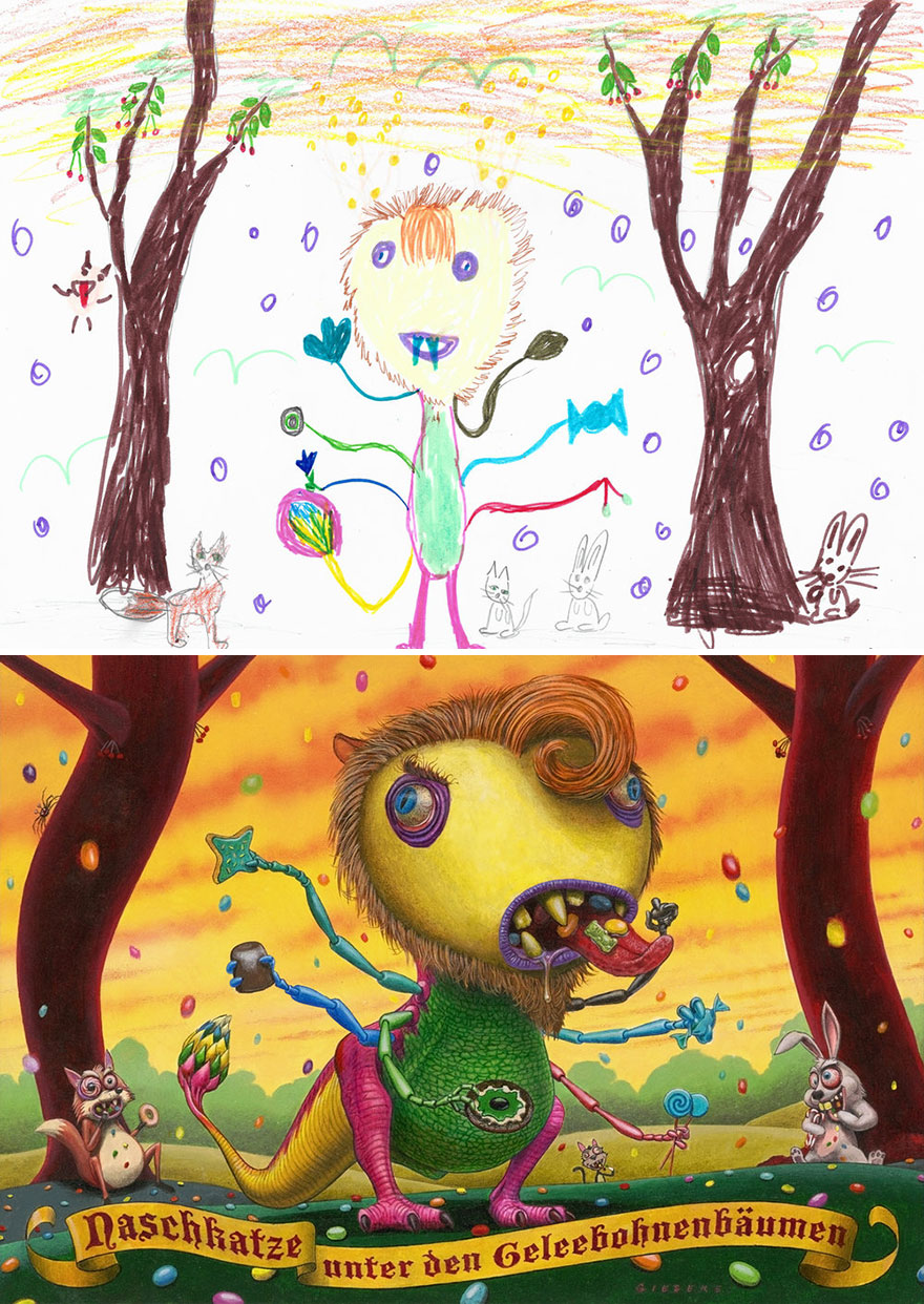 The Monster Project Continues To Invite Artists To Reproduce The Monsters Designed By Children And The Result Is From The Other World(News Pics)