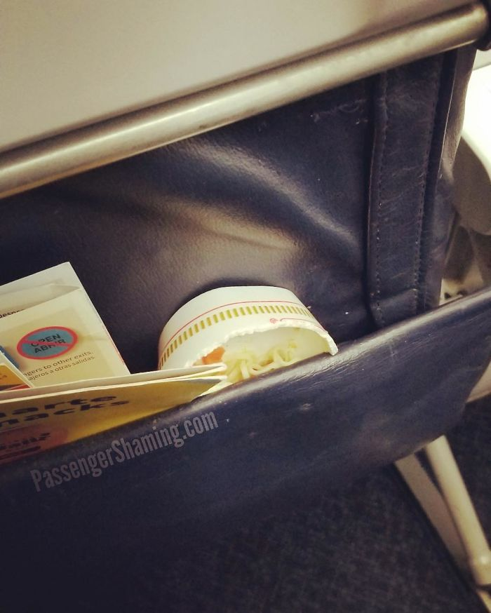 Seat Back Pockets Are Not Trash Receptacles