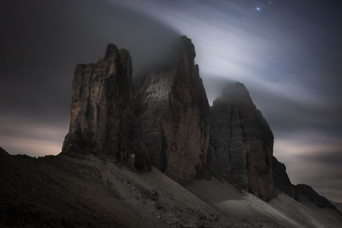 Tre Cime At Moonlight