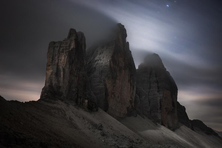 Tre Cime At Moonlight