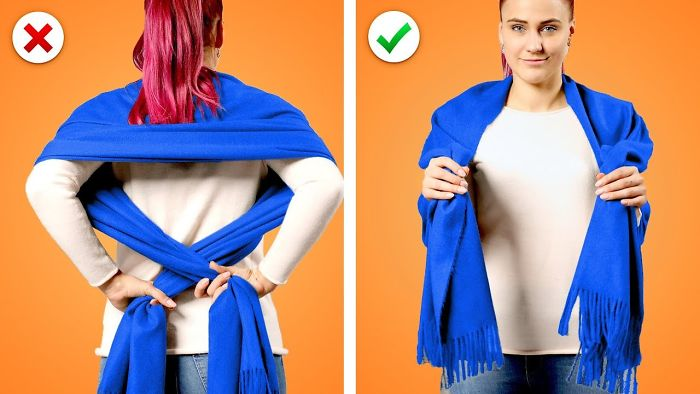 Awesome Fashion Hacks: 21 Way To Wear A Scarf