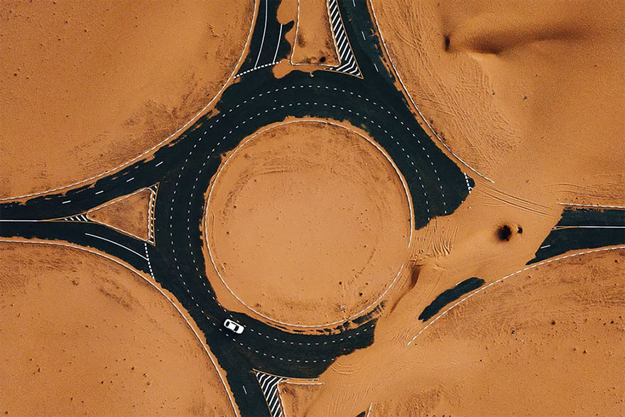Shot Over The Infamous Half Desert Road In Dubai By Whosane
