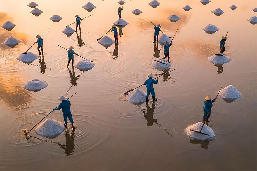 Hon Khoi Salt Field, Vietnam By Trung Pham