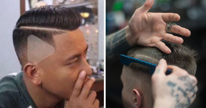 People Are Cracking Up At This Barber Who Shaved A Triangle On Client's Head After Being Shown A Paused Video