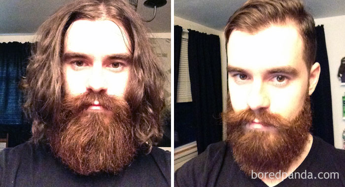 Got A Haircut And Trim From The Art Of Shaving. I Went From Charles Manson To Dapper Manson