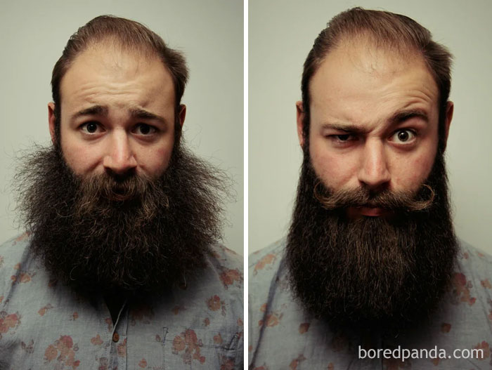 """Some People Don't Appreciate The Work Involved In A Neat And Tidy Beard! Here Is A Before And After My 15 Minute Daily """"Grooming"""" Routine"""