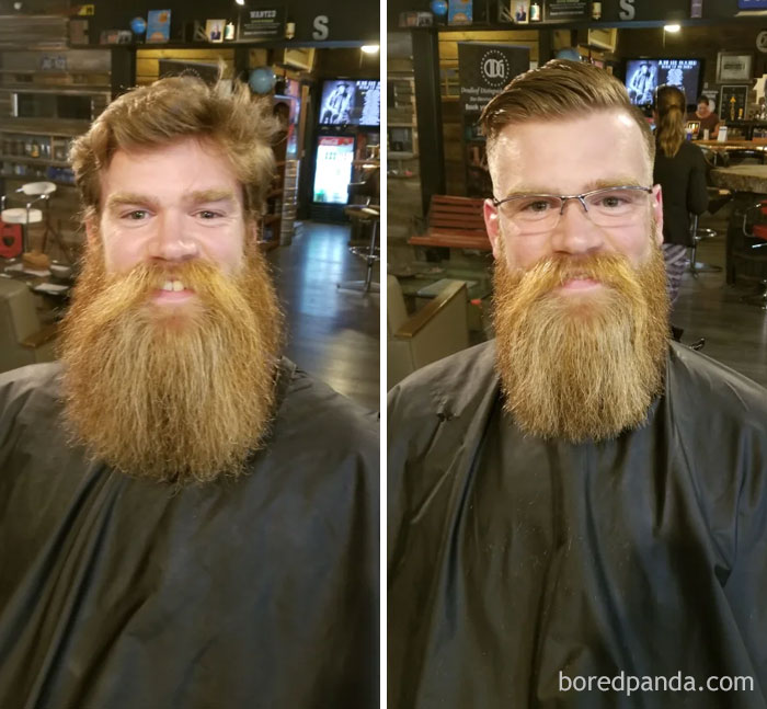 Got A Trim And A Haircut Today. Here Is 13 Months + Trim. Think He Did A Pretty Good Job